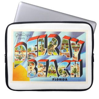 Delray Beach Florida FL Vintage Travel Souvenir Laptop Sleeve