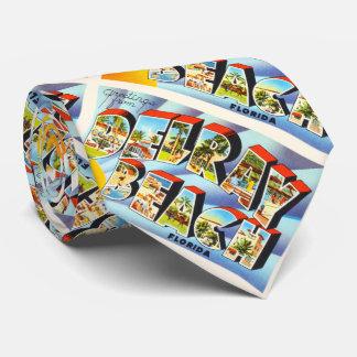Delray Beach Florida FL Vintage Travel Souvenir Neck Tie
