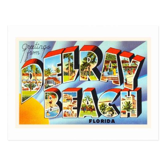 Delray Beach Florida FL Vintage Travel Souvenir Postcard