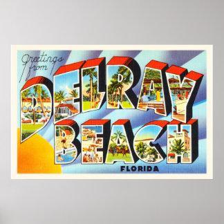 Delray Beach Florida FL Vintage Travel Souvenir Poster