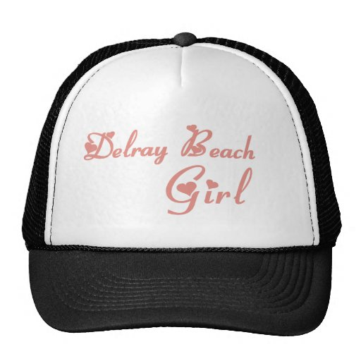 Delray Beach Girl tee shirts Trucker Hat
