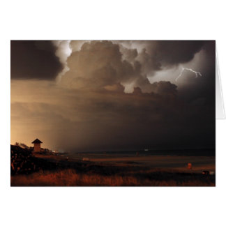 Delray Beach Lightning note card