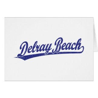 Delray Beach script logo in blue Card