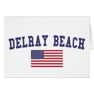 Delray Beach US Flag Card