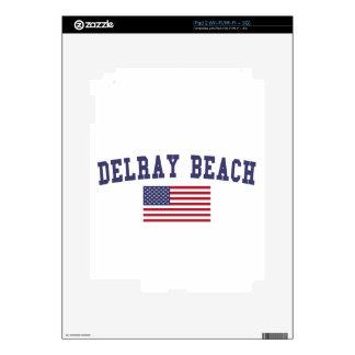 Delray Beach US Flag iPad 2 Skin