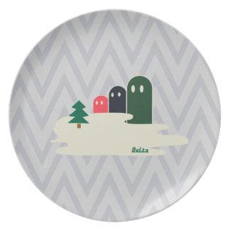 Delta01typeB-ライトカラー Melamine Plate