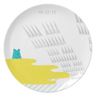 Delta02 午後2:15蜂蜜の海で Melamine Plate