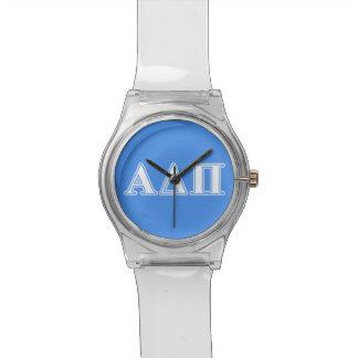 Delta alfa letras azul marino y blancas del pi relojes
