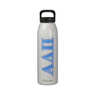 Delta alfa letras azules claras y azul marino del  botella de agua reutilizable