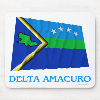 Delta Amacuro Waving Flag with Name Mouse Pad