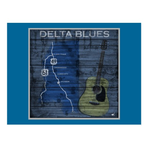Delta Blues Grunge Blues Highway Post Cards