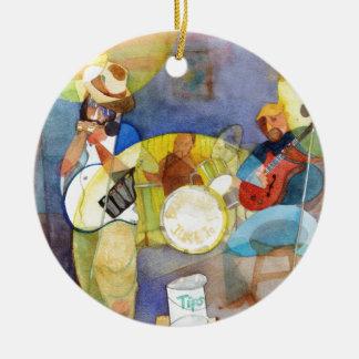 Delta Blues Music Design Ceramic Ornament