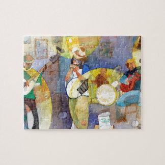 Delta Blues Music Design Jigsaw Puzzles