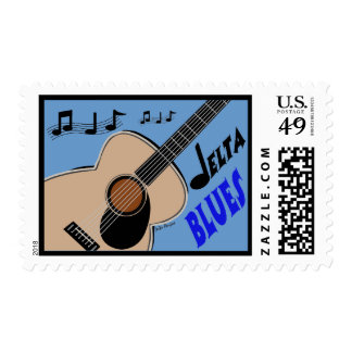 Delta Blues Postage Stamp