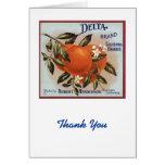 Delta Brand Oranges Fruit Labels