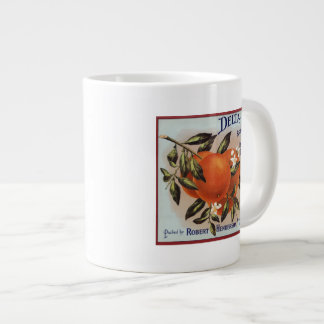 Delta Brand Oranges Fruit Labels Large Coffee Mug