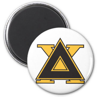 Delta Chi Badge Gold 2 Inch Round Magnet