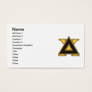 Delta Chi Badge Gold Business Card