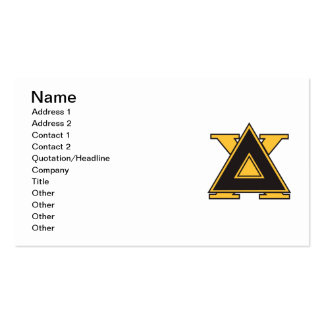 Delta Chi Badge Gold Business Card Template
