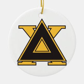 Delta Chi Badge Gold Ceramic Ornament