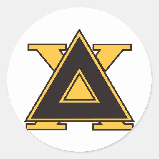 Delta Chi Badge Gold Classic Round Sticker Zazzle