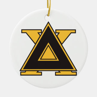 Delta Chi Badge Gold Double-Sided Ceramic Round Christmas Ornament