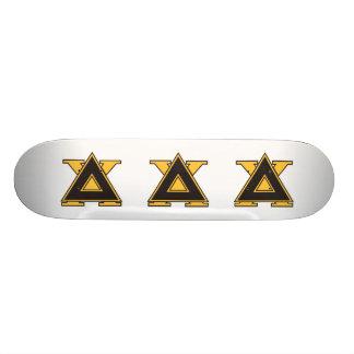 Delta Chi Badge Gold Skateboard Deck