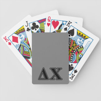 Delta Chi Black Letters Bicycle Playing Cards