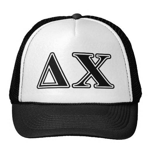 Delta Chi Black Letters Trucker Hats
