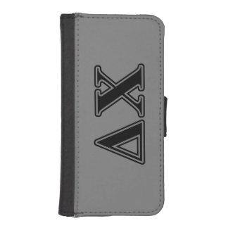 Delta Chi Black Letters iPhone SE/5/5s Wallet Case