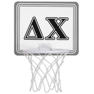 Delta Chi Black Letters Mini Basketball Backboard