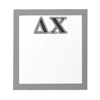 Delta Chi Black Letters Notepad