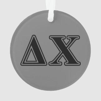 Delta Chi Black Letters Ornament
