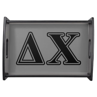 Delta Chi Black Letters Serving Tray