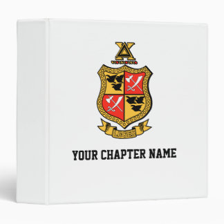 Delta Chi Coat of Arms 3 Ring Binders