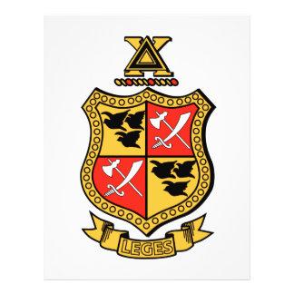"Delta Chi Coat of Arms 8.5"" X 11"" Flyer"