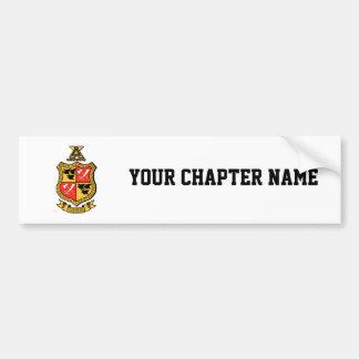 Delta Chi Coat of Arms Bumper Sticker