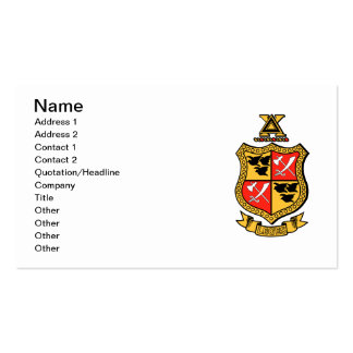 Delta Chi Coat of Arms Business Card Templates