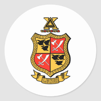 Delta Chi Coat of Arms Classic Round Sticker