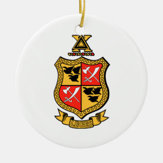 Delta Chi Coat of Arms Double-Sided Ceramic Round Christmas Ornament