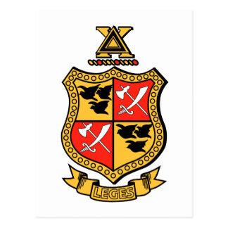 Delta Chi Coat of Arms Postcard