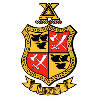 Delta Chi Coat of Arms Standing Photo Sculpture