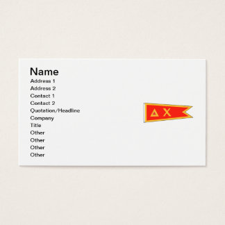 Delta Chi Flag Business Card