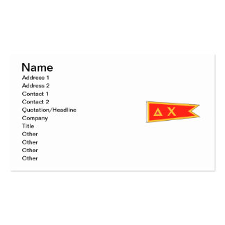 Delta Chi Flag Business Card Templates