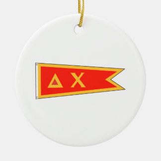 Delta Chi Flag Double-Sided Ceramic Round Christmas Ornament