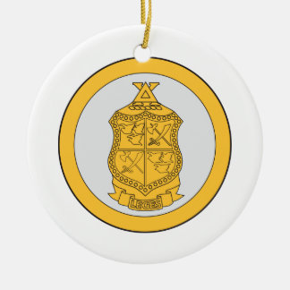 Delta Chi Life Loyalty Double-Sided Ceramic Round Christmas Ornament