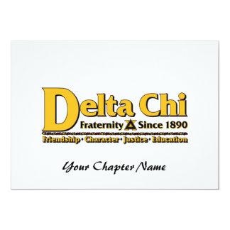 Delta Chi Name and Logo Gold Card