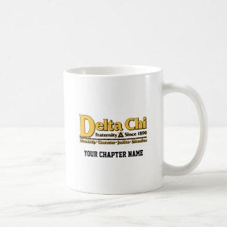 Delta Chi Name and Logo Gold Coffee Mug