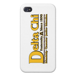 Delta Chi Name and Logo Gold Cover For iPhone 4