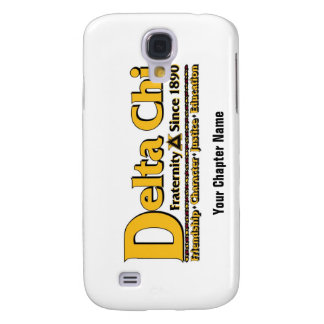 Delta Chi Name and Logo Gold Galaxy S4 Cover